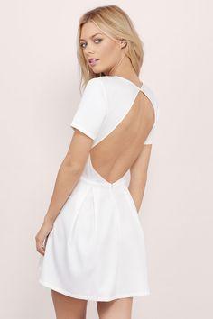 Paloma Backless Skater Dress