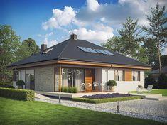 Projekt domu Flo II 112,34 m2 - koszt budowy 209 tys. zł - EXTRADOM My Home Design, House Design, Good House, Gazebo, New Homes, Loft, Outdoor Structures, Architecture, Outdoor Decor