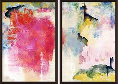 Colorful Strokes Diptych | Most Wanted | One Kings Lane $299