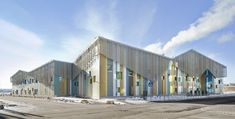 Completed in 2016 in Helsinki, Finland. Images by Mika Huisman, Studio Hans Koistinen . The new and rapidly growing district of Kalasatama now has its own day care centre and school. The colourful and visually inviting school designed by. Education Architecture, School Architecture, Architecture Design, Innovative Architecture, Architecture Collage, Architect Logo, Architect House, Helsinki, New District