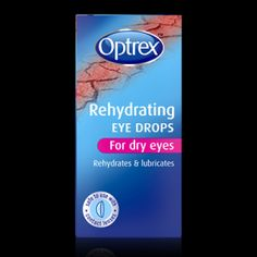 Optrex Rehydrating Eye Drops. OptrexRehydrating Eye Drops Optrex Rehydrating Eye Drops for dry eyes instantly rehydrate and lubricate dry, tired or irritated eyes.These drops are specially formulated to help your eyes tackle aspects of modern living, such as contact lenses wear, computer usage, driving, air conditioning / central heating and polluted atmospheres.The formulation contains specially designed ingredients that replenish your tears, lubricating your eyes so you…