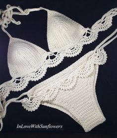 Bikini all'uncinetto  Bikini  Crochet di InLoveWithSunflowers