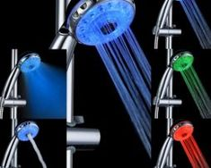 Aquasource LED Shower Heads Fashion Temperature Shower Heads Adapter for Faucet Kitchen Bathroom Tap for Sale Led Shower Head, Shower Heads, Bathroom Spa, Bathroom Fixtures, Bathroom Ideas, Water Lighting, Light Water, Glow, Led Licht