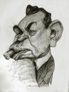 Edward G. Robinson by Ernesto - CARICATURE: http://dunway.com/