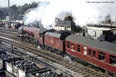 27/09/1963 - Skipton, North Yorkshire.   Best viewed 'Origin…   Flickr Electric Locomotive, Steam Locomotive, Steam Trains Uk, Heritage Railway, Old Wagons, Steam Railway, British Rail, Train Pictures, Train Engines