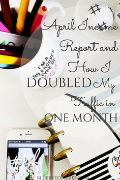 Welcome to April's Blog Income/Traffic Report and only my second one. See how I more than doubled my traffic too!