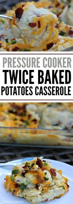 This Instant Pot Twice Baked Potatoes Casserole Recipe is amazing! It is one of … This Instant Pot Twice Baked Potatoes Casserole Recipe is amazing! It is one of our new favorite pressure cooker recipes because it saves so much… Continue Reading → Healthy Potato Recipes, Crockpot Recipes, Cooking Recipes, Hamburger Recipes, Cauliflower Recipes, Casseroles Healthy, Dog Recipes, Cooking Games, Recipies