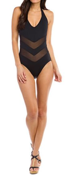 Mesh #chevron swimsuit - $39.90 today only! http://rstyle.me/n/f99rmnyg6