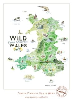 A day hang gliding or horse riding, before a sleepy evening of stargazing is just one way to experience Wild Wales.