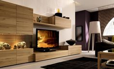 Cool And Inspiring Tv Wall Cabinet Design Ideas Living Room Design ...