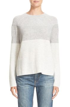 Vince Colorblock Wool & Cashmere Crewneck Sweater available at #Nordstrom