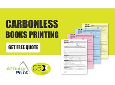 Carbonless books come in many different forms. Invoice Books, Receipt Books, Docket Books, Quotation Books, Order Books, are just some of the many variations of carbonless books. We can print your Custom Invoice Books in duplicate or triplicate and print up to 10 books within 3 days. #InvoiceBooks #DocketBooks #OrderBooks