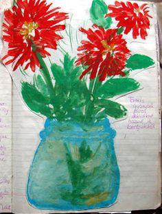 Freinet.Nk: Dália az osztálynak Glass Vase, December, Blog, Home Decor, Decoration Home, Room Decor, Blogging, Home Interior Design, Home Decoration