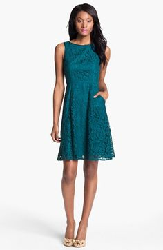 Thoughts on style? Might be too dark though. Adrianna Papell Lace Fit Flare Dress available at Nordstrom Fit And Flare, Fit Flare Dress, Mob Dresses, Bridesmaid Dresses, Formal Dresses, Bridesmaids, Nordstrom Dresses, Pretty Outfits, Fashion Beauty