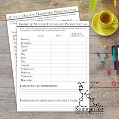 Guide To Help You Get Organized Every Month by KaufmanArt on Etsy