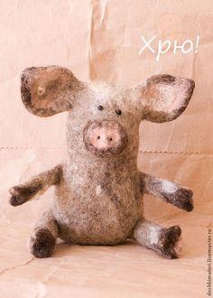 Купить Поросенок - бежевый, свинья, свинка, поросюшка, поросята, поросёнок, домашнее животное, игрушка