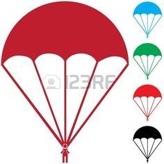 parachute icône Banque d'images