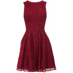 Oasis Gothic lace dress ($37) ❤ liked on Polyvore featuring dresses, vestidos, short dresses, robes, purple, women, purple mini dress, short red dress, lace cocktail dress and short red cocktail dress