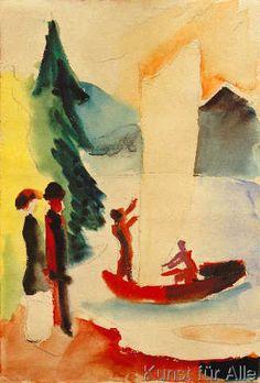 August Macke - Gelbes Segel (66,0 x 97,0 cm)