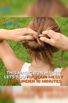 Magic Bun Maker 😍 Now, with our Magic Bun Maker, you'll never find yourself trapped in this awkward situation again! Currently 50% OFF with FREE Shipping! Hair Bun Tool, Hair Buns, Curly Hair Styles, Natural Hair Styles, Bun Maker, Messy Hairstyles, Amazing Hairstyles, Elegant Hairstyles, Hair Hacks