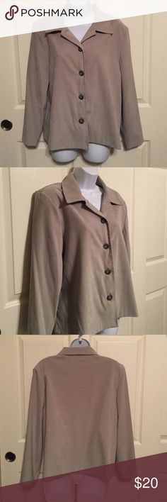 Briggs petite large olive green woman's ladies Briggs petite large woman's ladies color olive green. On the picture it looks like tan but actually it's olive green maybe because of the lighting. Preowned long sleeve.   Check out my closet, we have a lot of Victoria Secret, Bath and Body Works, handbags, Aerosoles, shoes, fashion jewelry, women's clothing, Beauty products, home decors & more...  Ships via USPS. We offer bundle discounts. And don't forget your FREE GIFT with every purchase…