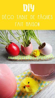 J'ai réalisé une décoration pour une table de Pâques en mode récupération. Pour découvrir la marche à suivre direction www.monpetitbalcon.fr #DIY #easter