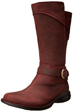 Merrell Women's Captiva Buckle-Down Waterproof Boot,Burgu… Undyne Cosplay, Moms With Attitude, New Wardrobe, Wardrobe Ideas, Nerd Fashion, Thing 1, Red Boots, Mid Calf Boots, Waterproof Boots