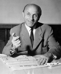 Lazlo Bíró with his invention that he never profited from - the ballpoint pen, Bíró filed his patent in 1938 and history was made.