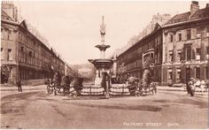 Laura Place, Great Pulteney St circa 1900
