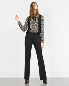ZARA - WOMAN - PRINTED SHIRT WITH BOW