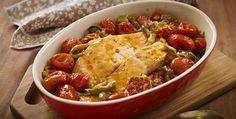 Salmão com Abobrinha e Tomates Cereja