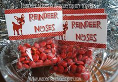 Reindeer Noses Candy Topper Printable (I changed the poem because I ...