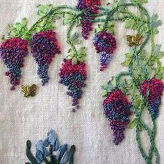 Wonderful Ribbon Embroidery Flowers by Hand Ideas. Enchanting Ribbon Embroidery Flowers by Hand Ideas. Embroidery Designs, Hand Embroidery Stitches, Crewel Embroidery, Embroidery Thread, Embroidery Techniques, Embroidery Tattoo, Embroidery Supplies, Brazilian Embroidery Stitches, Hand Stitching