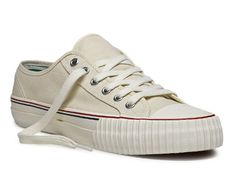 Having trouble deciding between natural white & red... PF Flyers Center Lo