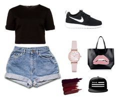 """""""Sin título #1"""" by kislev-flores on Polyvore featuring moda, Ted Baker, NIKE, RED Valentino, Emporio Armani y Serge Lutens"""