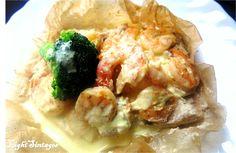 Light Συνταγές: Σολωμός με γαρίδες και σάλτσα
