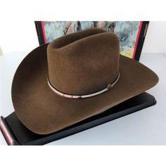 e78cdd93d76d5 Stetson Cowboy Hat 4X Buffalo Fur Felt Powder River Mink