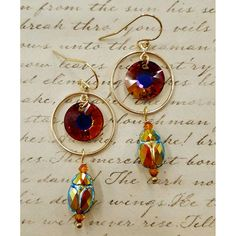 Egyptian Setting Sun Earring Tutorial | Jewelry Design Ideas | rings-things.com