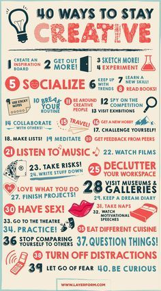 40 ways to stay creative | Infographic | Creative Bloq