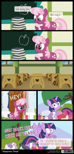 Comic Block: Desperate Times by on DeviantArt Equestria Girls, My Little Pony Equestria, Mlp Comics, Funny Comics, Origami Horse, Mlp Memes, Desperate Times, My Little Pony Comic, Some Beautiful Pictures