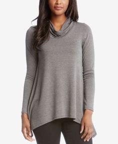 Karen Kane Handkerchief-Hem Sweater - Gray XS