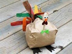 Paper bag turkey thanksgiving craft