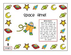 FREE Space Time game for telling time to the hour and half hour. Nice connection to your science teaching about space!