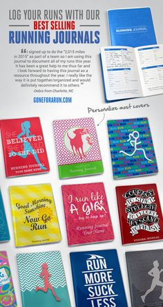 Our running journals are a great way to keep track of your success! Get one at GoneForaRun.com