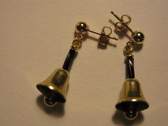 Vintage Brass Handbell Earrings with Vintage Brass Clapper on Etsy, $15.00