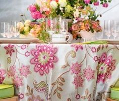 Its that time of year when out comes the prettiest flowers just perfect for food and celebrations and of course some pretty floral cloths. A...