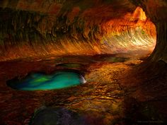 """The Subway"" - emerald pools of the left forth of the North River - Zion, Utah"