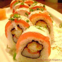 """""""Acevichado Roll"""" uno de mis rolls favoritos, una muestra de la fusión entre la comida peruana y japonesa"""