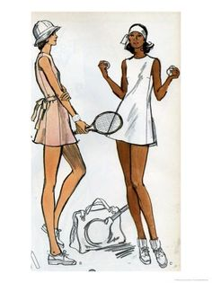 Patterns for tennis clothing - so chic // Pipeline Marketing