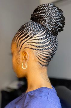 Latest Braided Hairstyles, Black Hair Updo Hairstyles, African Braids Hairstyles, Black Girls Hairstyles, Hair Jewelry, Jewellery, Hair Affair, Creative Hairstyles, Cornrows
